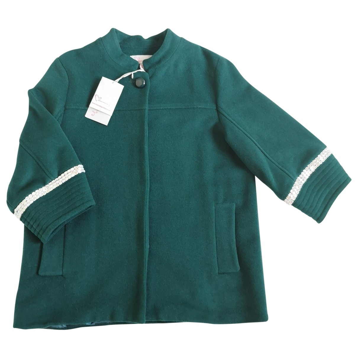Non Signé / Unsigned \N Green coat for Women 12 UK