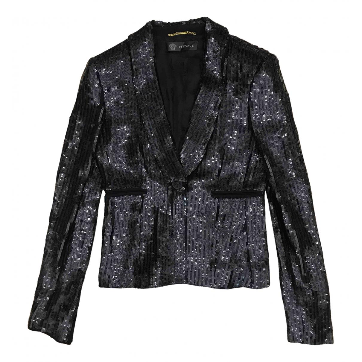 Versace \N Black Cotton jacket for Women 38 IT