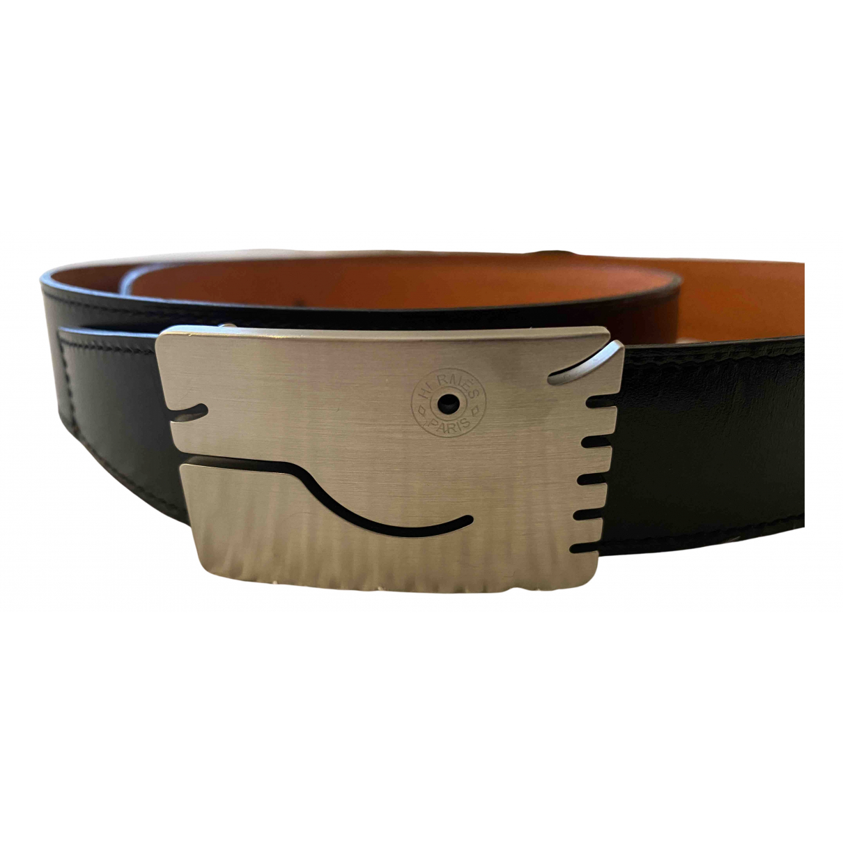 Hermès N Silver Metal belt for Men 95 cm