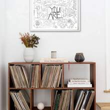 Abstract Letter Wall Art Print Without Frame