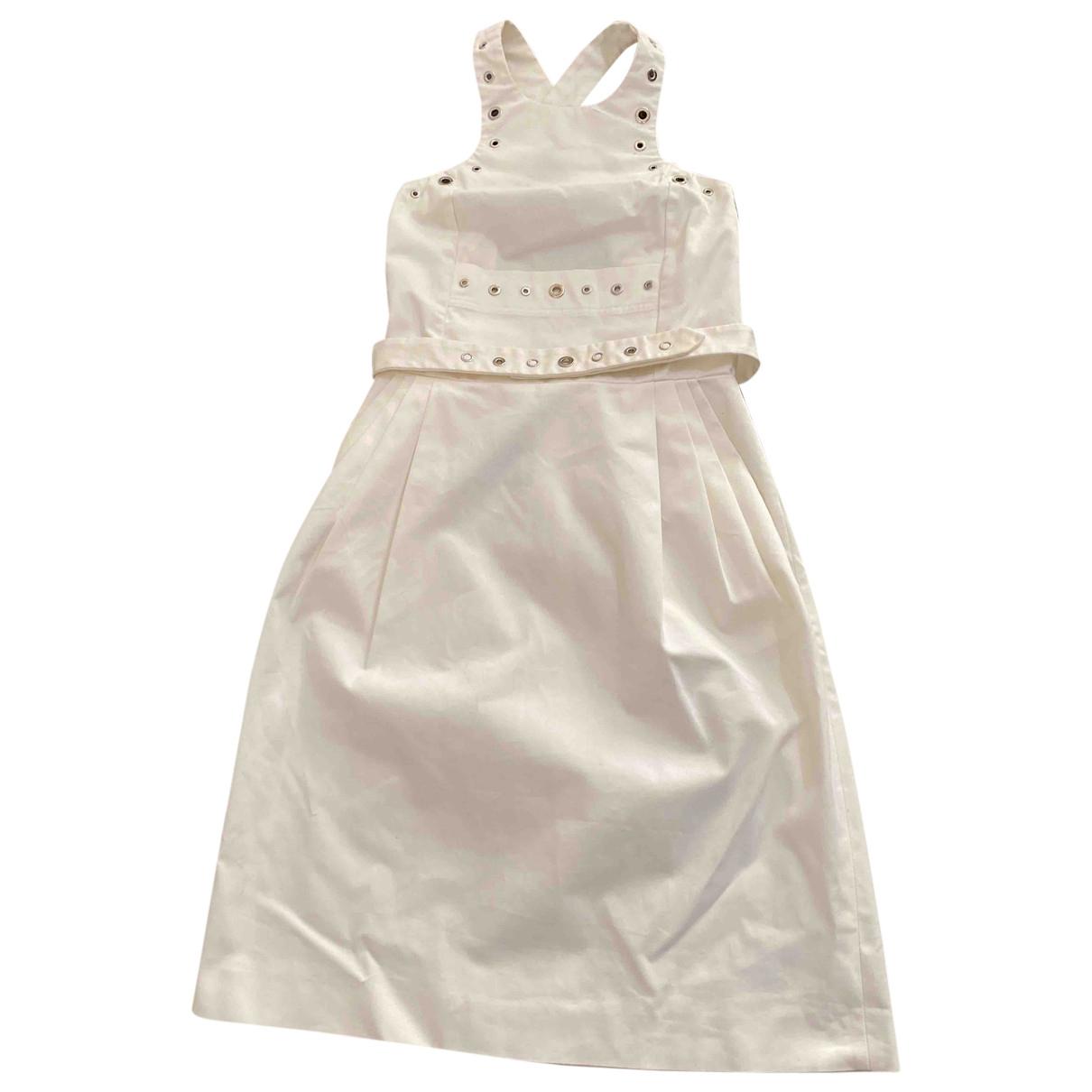 Jean Paul Gaultier \N Kleid in  Weiss Baumwolle