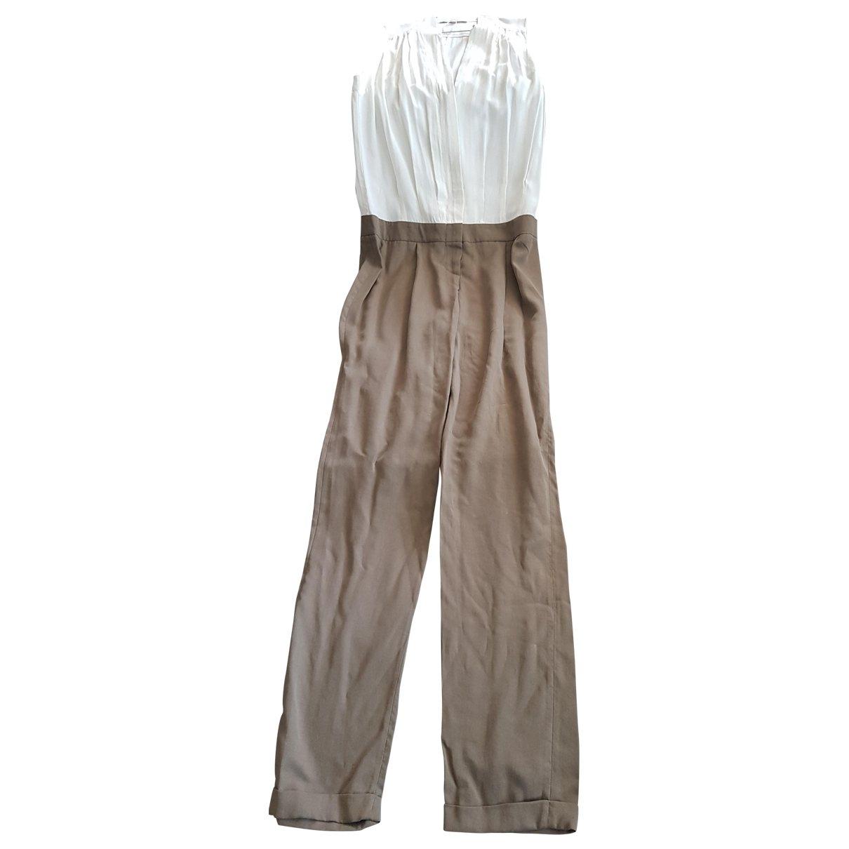 Maje \N Beige Silk jumpsuit for Women 36 FR
