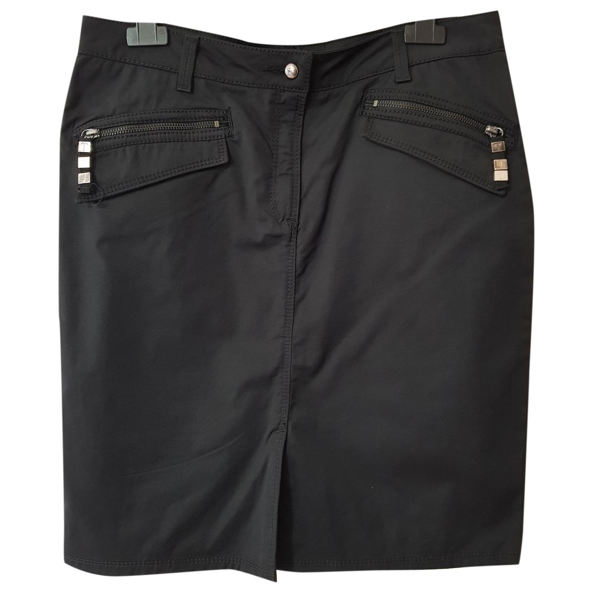 Trussardi Jeans \N Black Cotton skirt for Women 46 IT