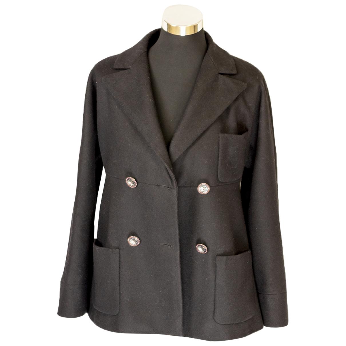 Chanel \N Jacke in  Schwarz Wolle