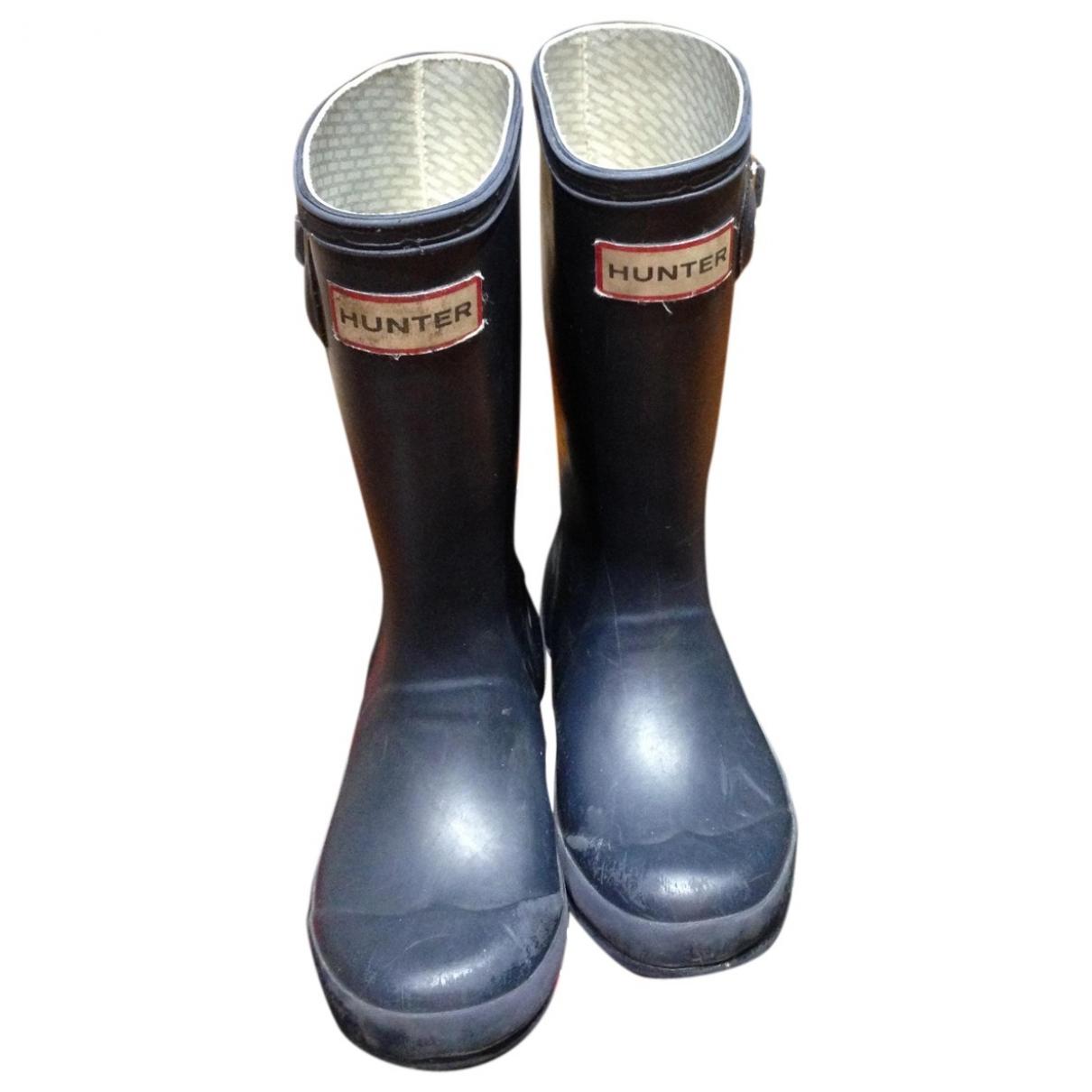 Hunter \N Navy Boots for Kids 28 EU