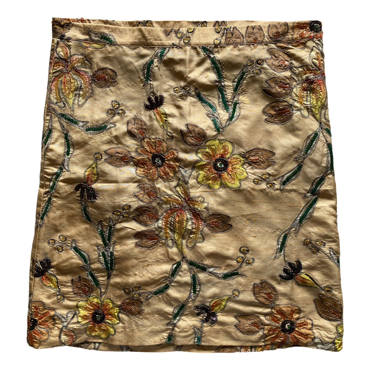 Bill Tornade - Jupe   pour femme en soie - beige