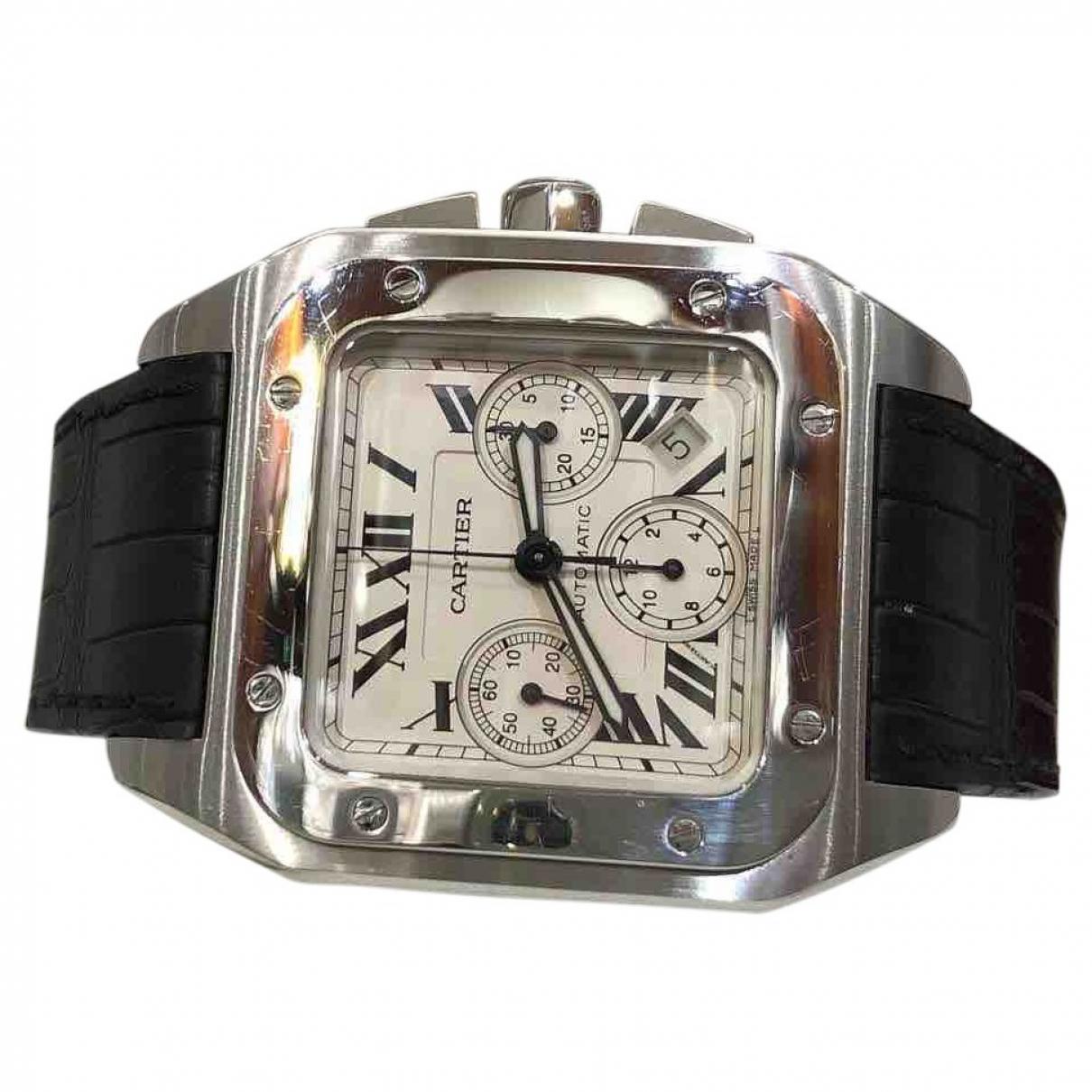 Cartier - Montre Santos 100 XL Chronographe pour homme en acier - gris