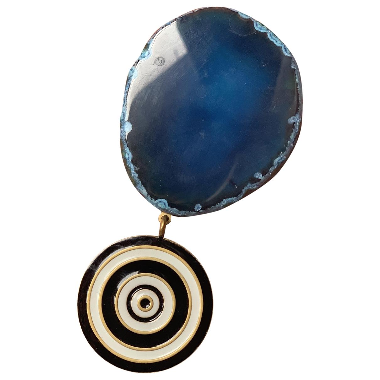 Broche en Metal Azul Givenchy