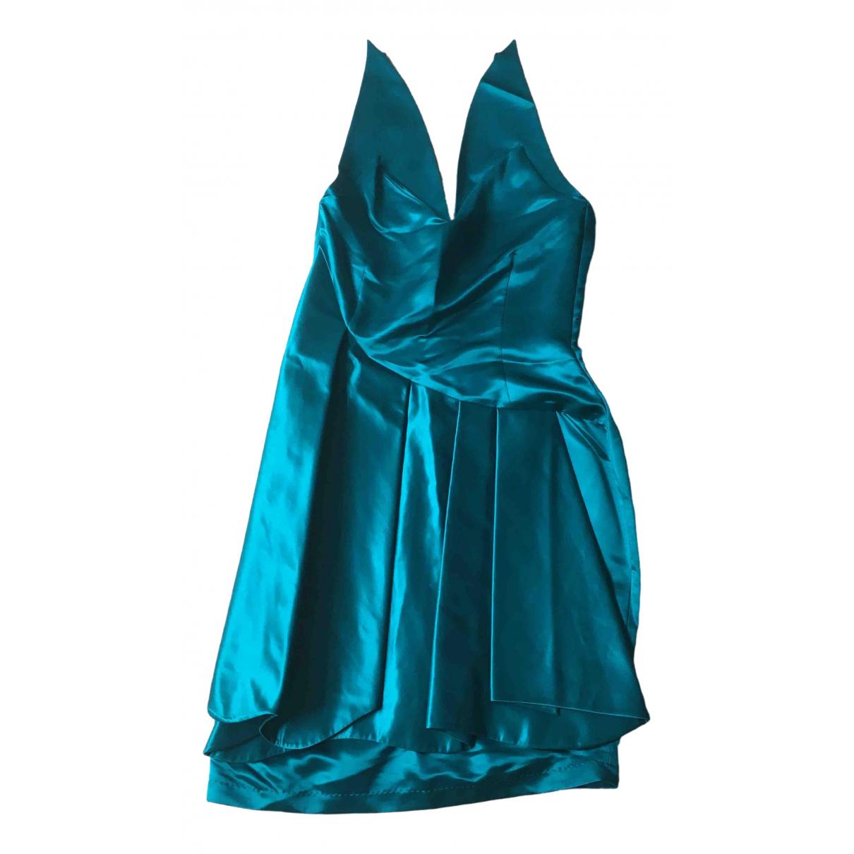 Charlotte Eskildsen \N Kleid in  Gruen Seide