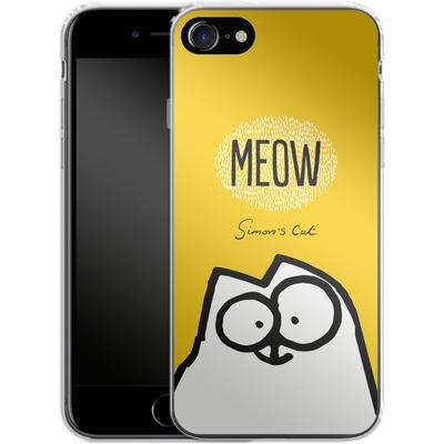 Apple iPhone 8 Silikon Handyhuelle - Meow Yellow von Simons Cat