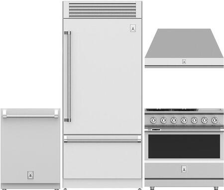 4 Piece Kitchen Appliance Package with KRPR36 36