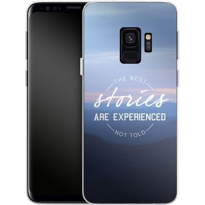 Samsung Galaxy S9 Silikon Handyhuelle - Stories von Statements