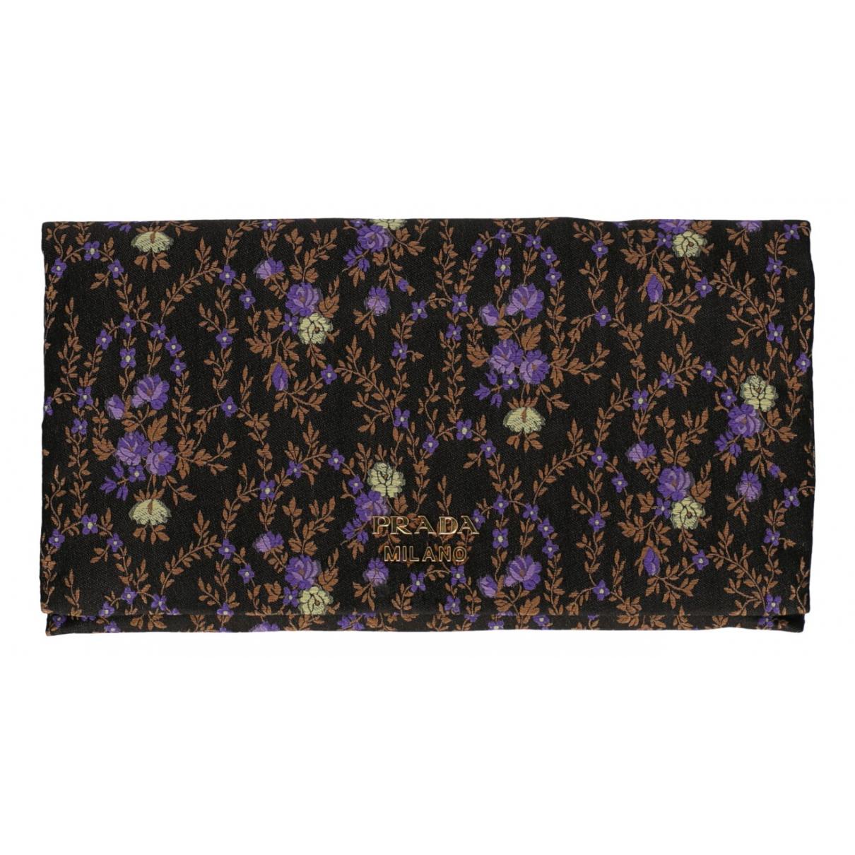 Prada N Black Cotton wallet for Women N