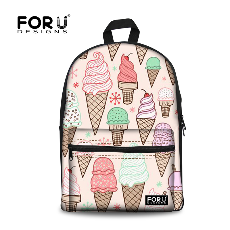 Sweet Cakes Ice Cream High Quality Fabrics Waterproof 3D Printed Outdoor Bag