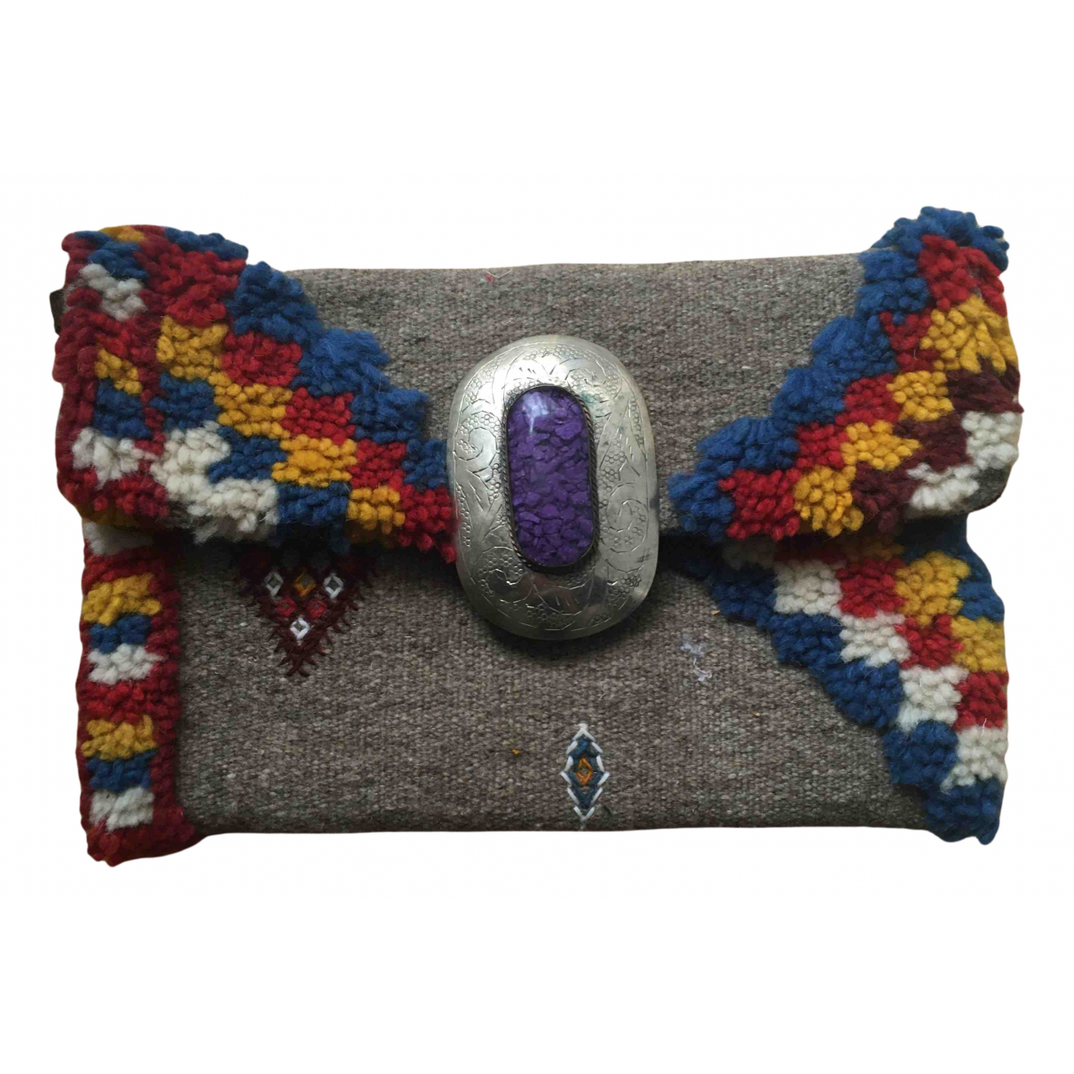 Non Signé / Unsigned N Multicolour Wool Clutch bag for Women N