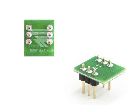 Roth Elektronik PCB Adapter SOT Epoxy Glass Double-Sided 13.6 x 11.2 x 1.5mm