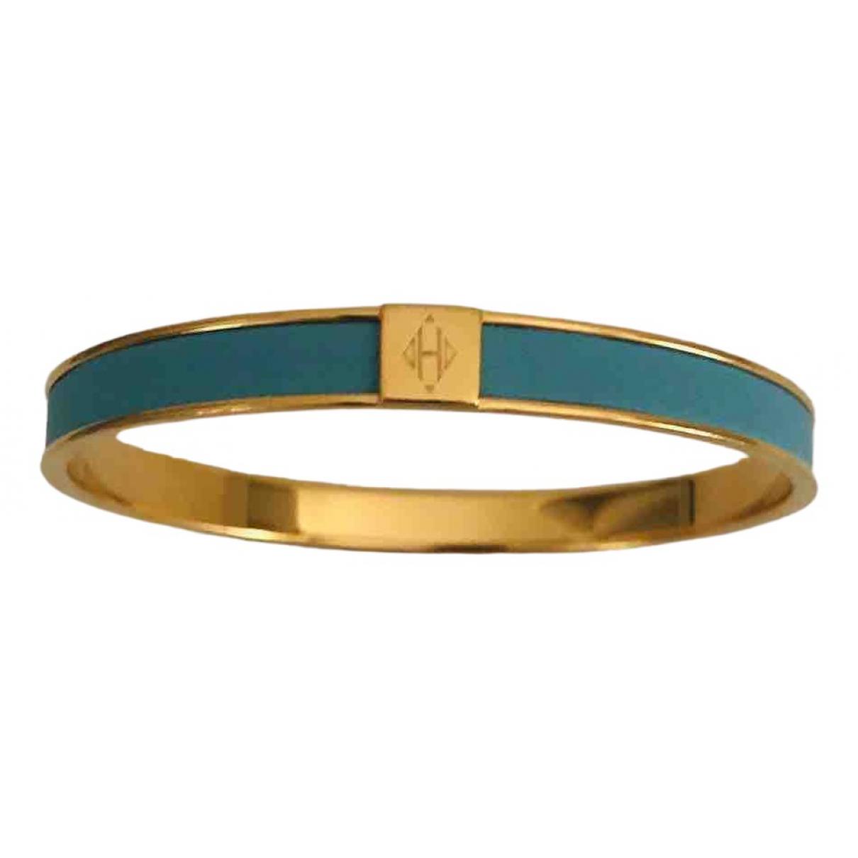 Hermes - Bracelet Bracelet Email pour femme en cuir - bleu