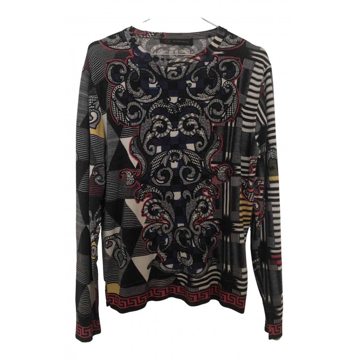 Versace \N Pullover.Westen.Sweatshirts  in  Grau Wolle