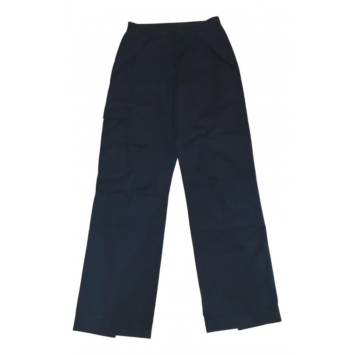 Prada - Pantalon   pour femme en toile - marine