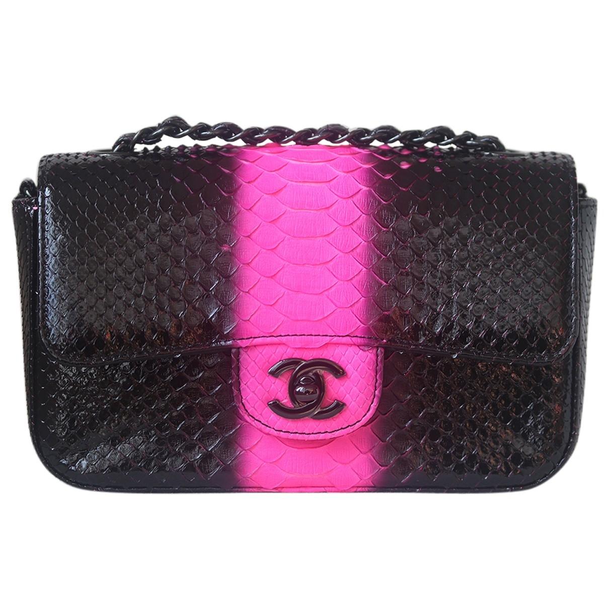 Chanel \N Black Python handbag for Women \N
