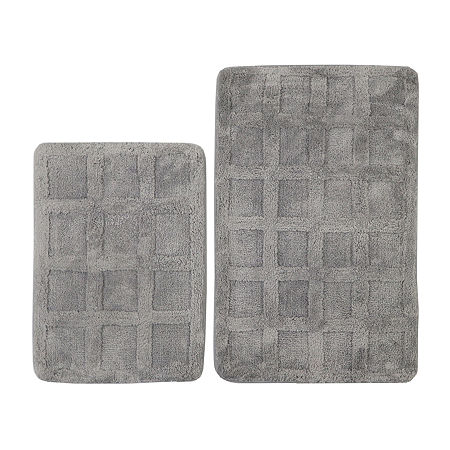Riviera Home Memory Foam 2-pc. Bath Rug Set, One Size , Gray