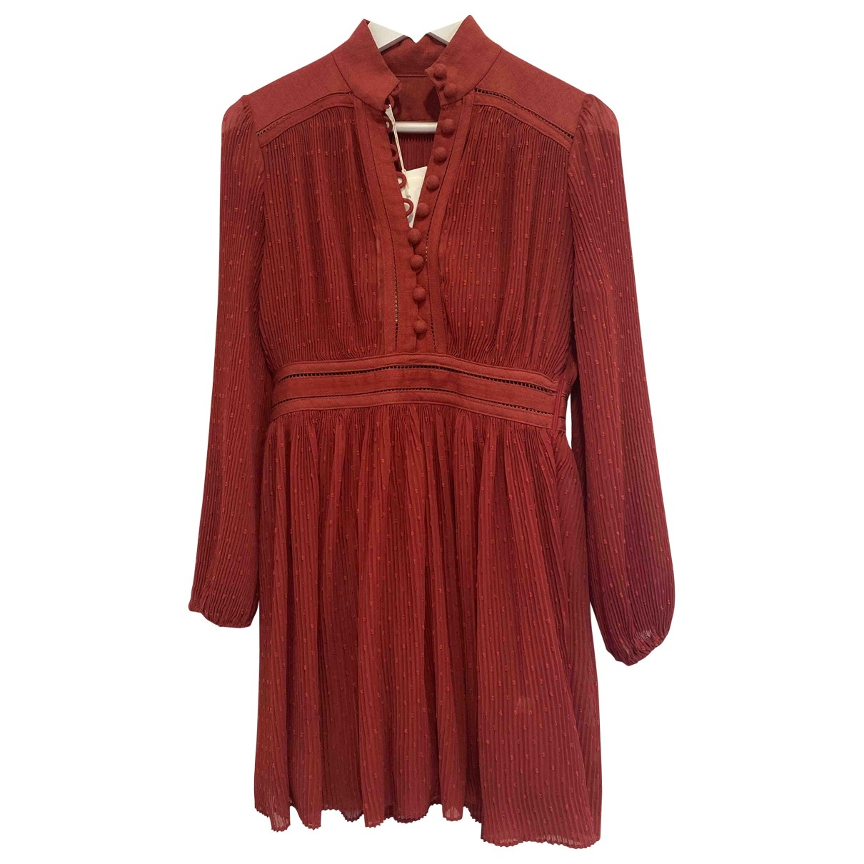 Non Signe / Unsigned Oversize Kleid in  Rot Polyester