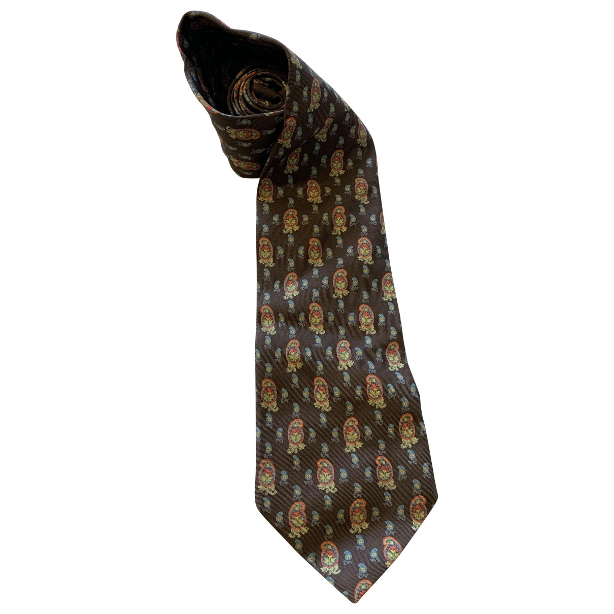 Etro \N Brown Silk Ties for Men \N