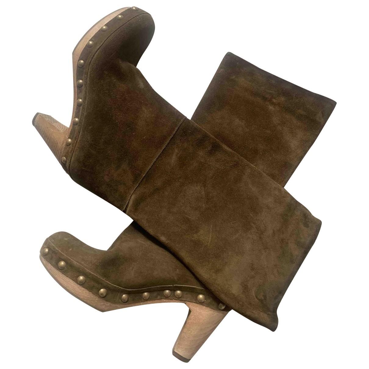 Marni \N Stiefel in  Braun Veloursleder