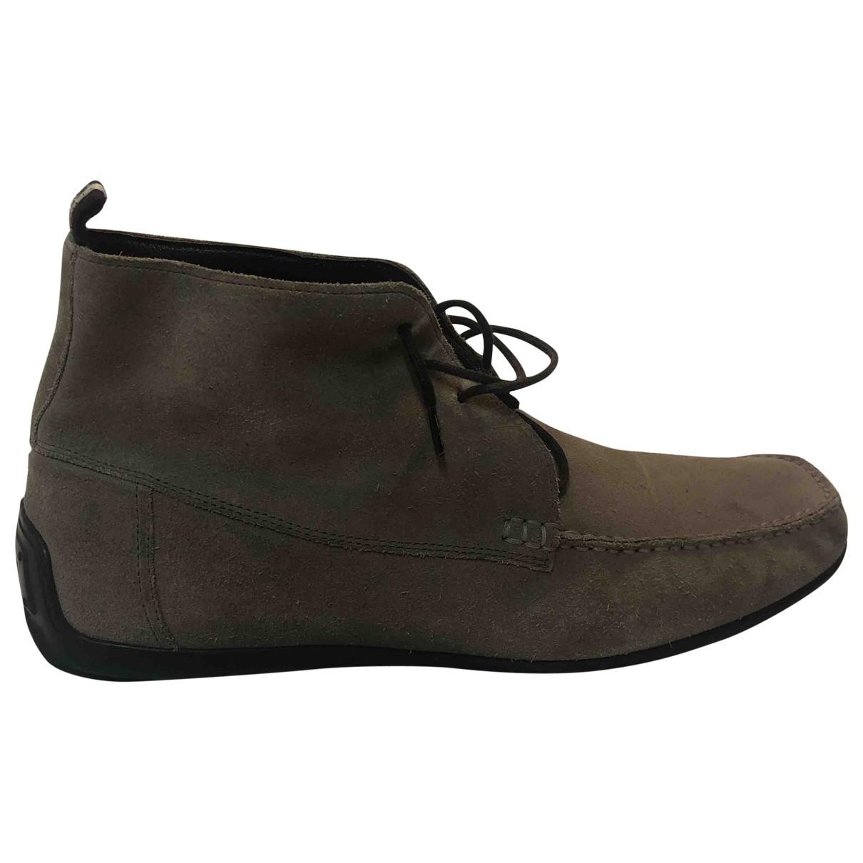Bally \N Stiefel in  Khaki Veloursleder
