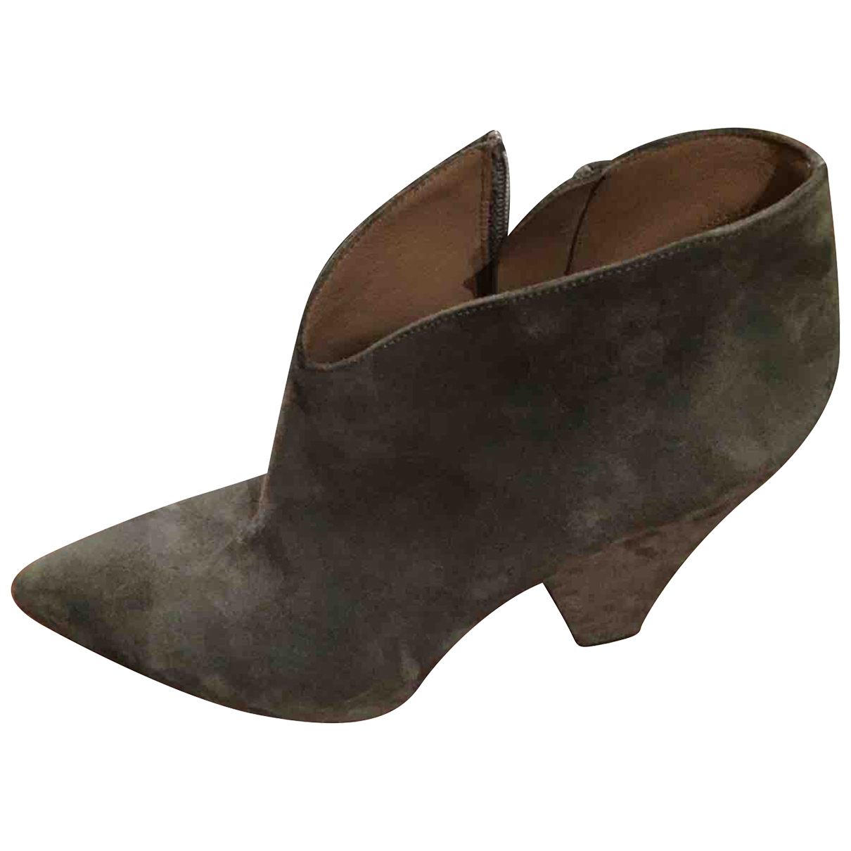 Alaïa \N Grey Suede Ankle boots for Women 37 EU