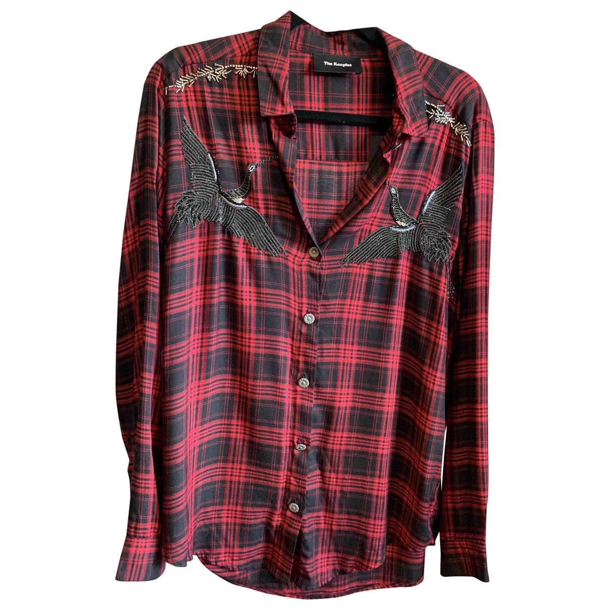 The Kooples \N Red Cotton  top for Women 36 FR