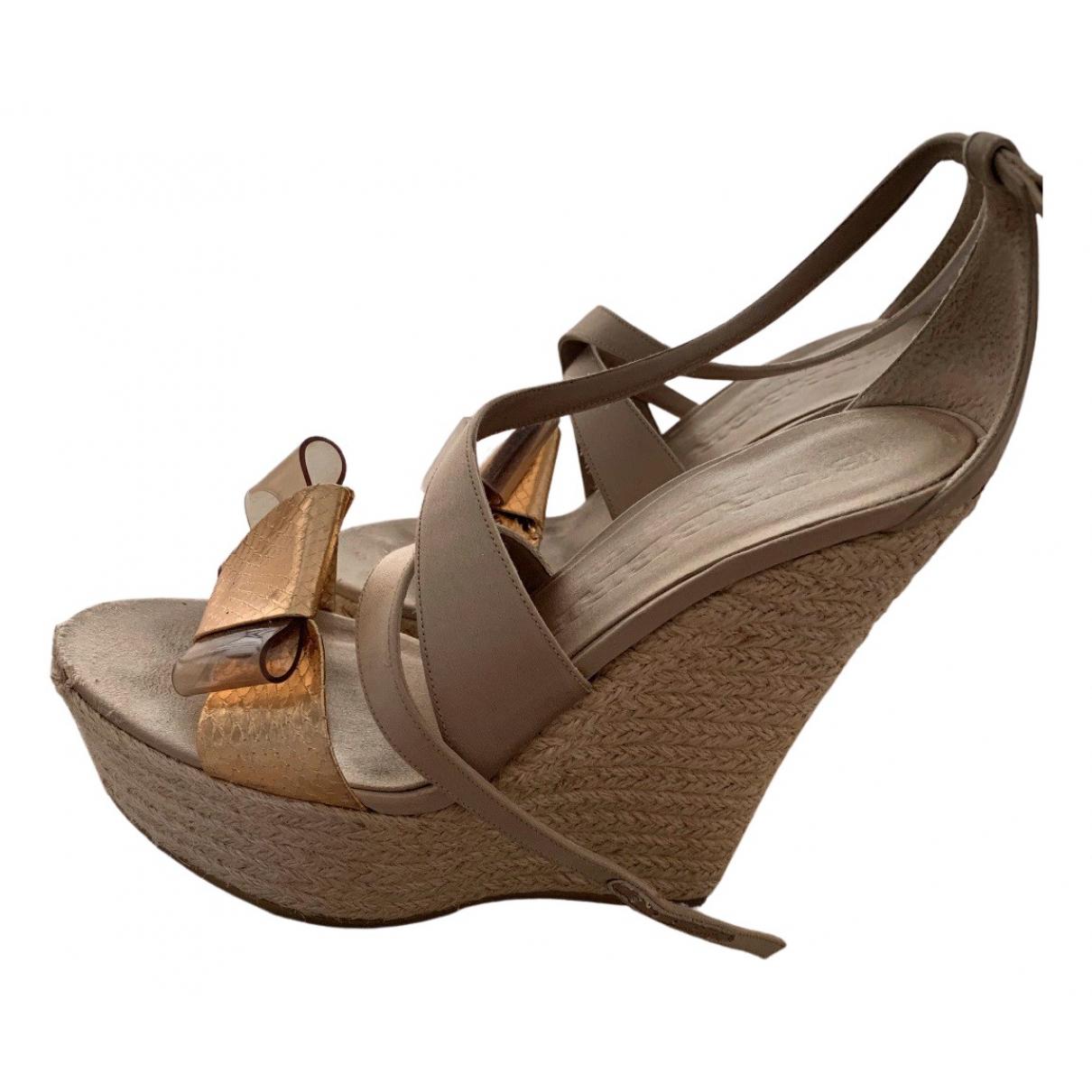 Sandalias romanas de Cuero Burberry