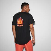 T-Shirt Halloween Muster und kurzen Ärmeln