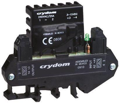 Sensata / Crydom 10 A rms SPNO Solid State Relay, DIN Rail, 280 V ac Maximum Load