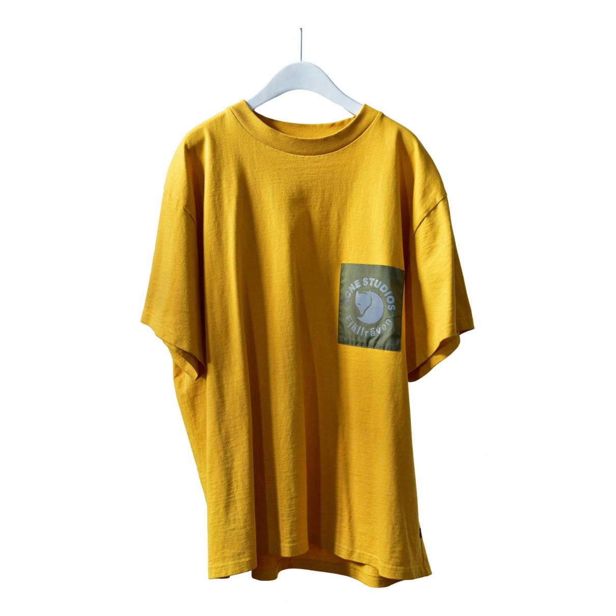 Acne Studios - Tee shirts   pour homme en coton - jaune
