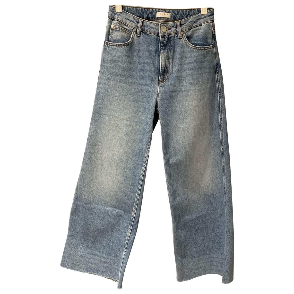 Sandro Spring Summer 2019 Blue Cotton Jeans for Women 36 FR