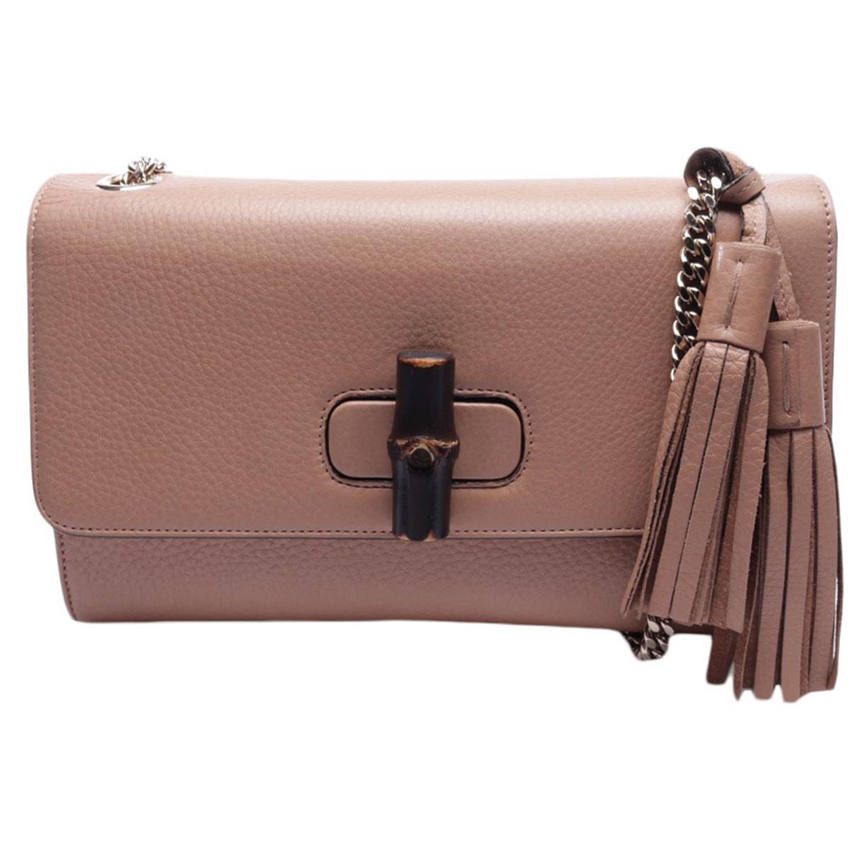 Gucci - Sac a main   pour femme en cuir - beige