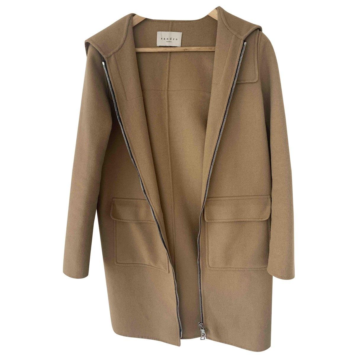 Sandro \N Beige Cotton coat for Women 8 UK