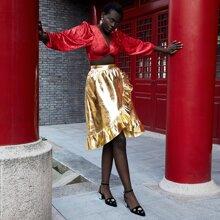 Faldas Volante Liso Glamour