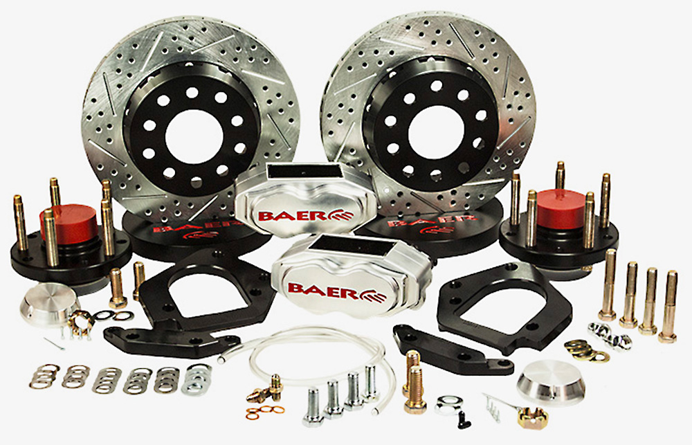 Baer Brakes Brake System 11 Inch Front SS4+ Deep Stage Drag Race Clear 79-93 Mustang 5 Lug