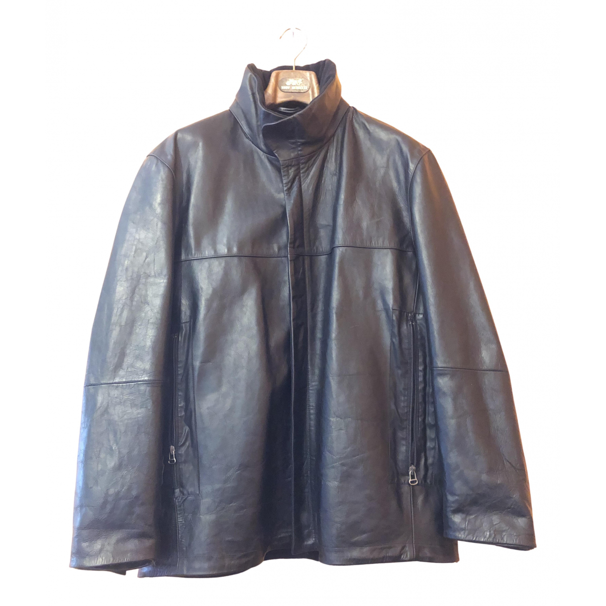 Boss N Black Leather jacket  for Men 52 IT