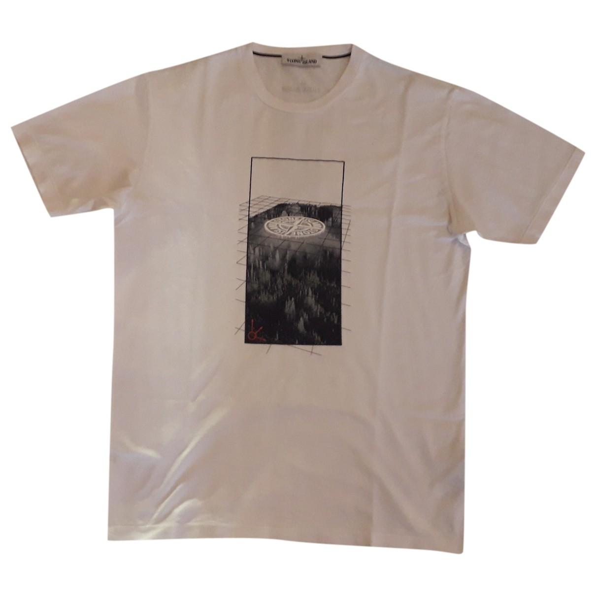 Stone Island - Tee shirts   pour homme en coton - blanc