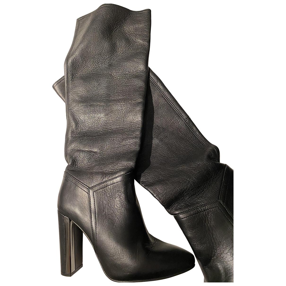 Buffalo - Bottes   pour femme en cuir - noir