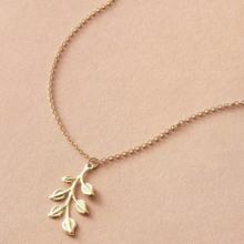 1pc Leaf Pendant Necklace