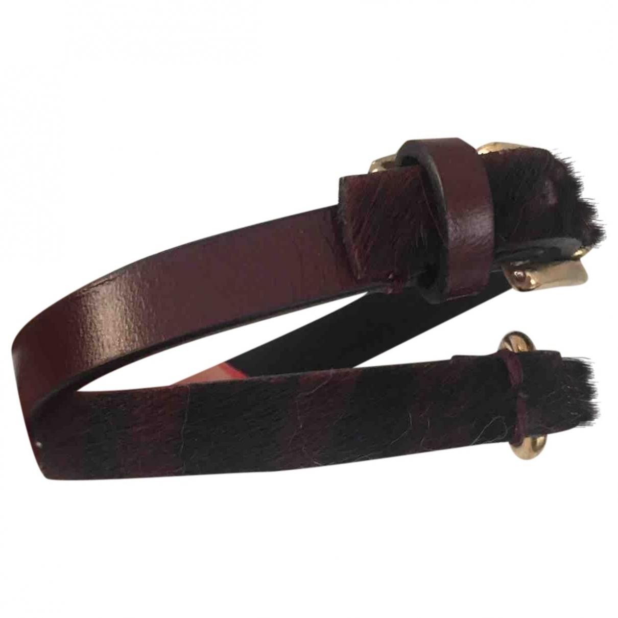 Massimo Dutti \N Armband in  Bordeauxrot Leder