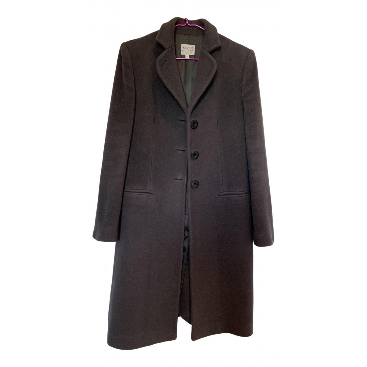 Armani Collezioni \N Grey Wool coat for Women 42 IT
