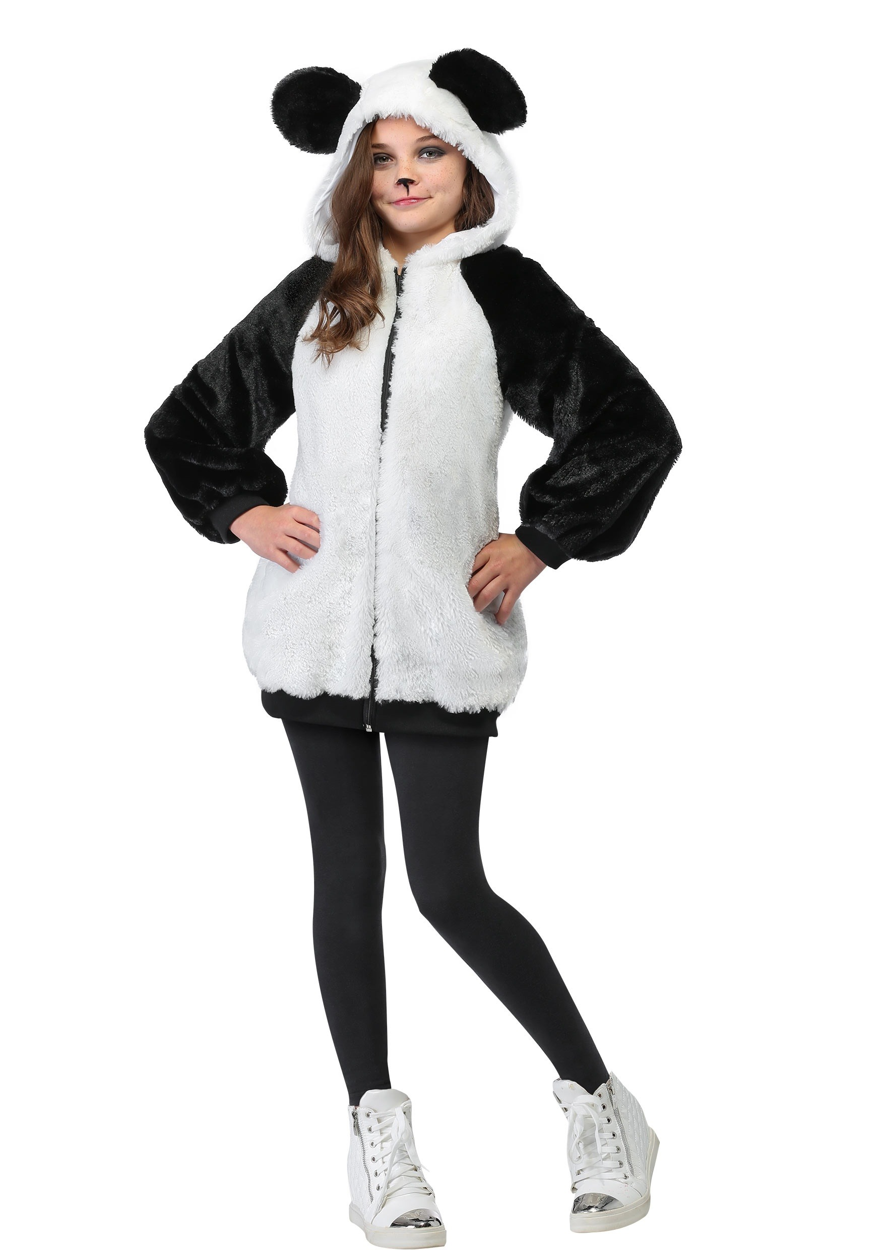 Panda Hooded Jacket Costume for Girls