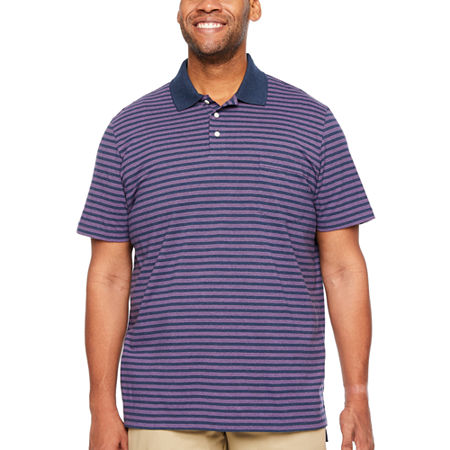 The Foundry Big & Tall Supply Co. Big and Tall Mens Short Sleeve Polo Shirt, 4x-large , Blue