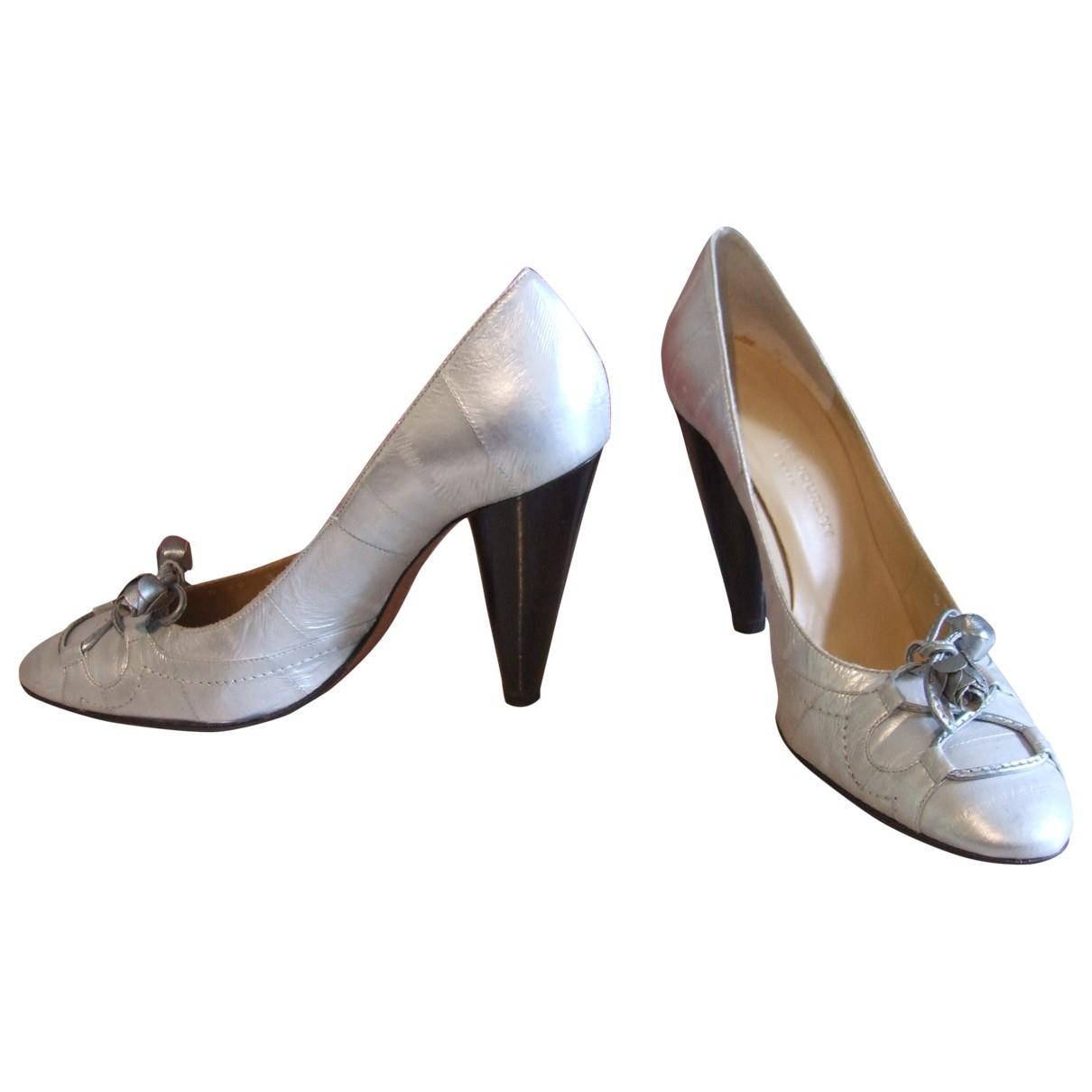 Charles Jourdan \N Pumps in  Silber Leder