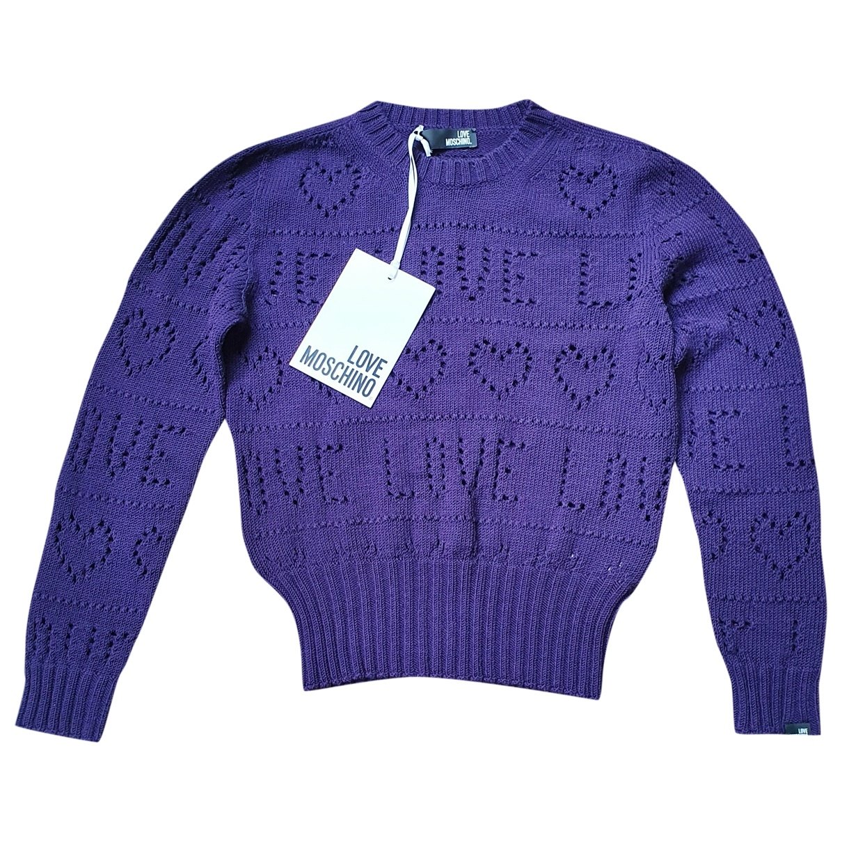Moschino Love \N Pullover in  Lila Wolle